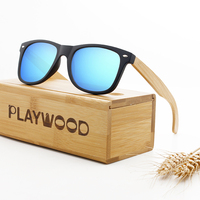 2019 Classic Wooden Sunglasses UV400 Cat.3 Polarized Bamboo Sunglasses