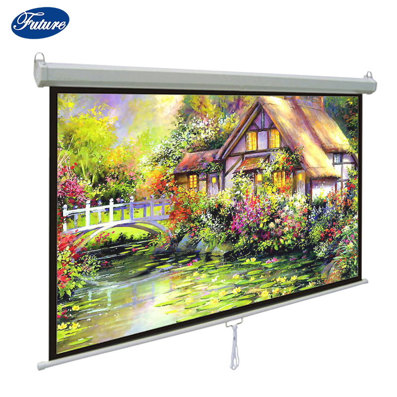 "Easy Install Manual Projection Screen70""*70"" /High Quality Home Theater Projector Screen"