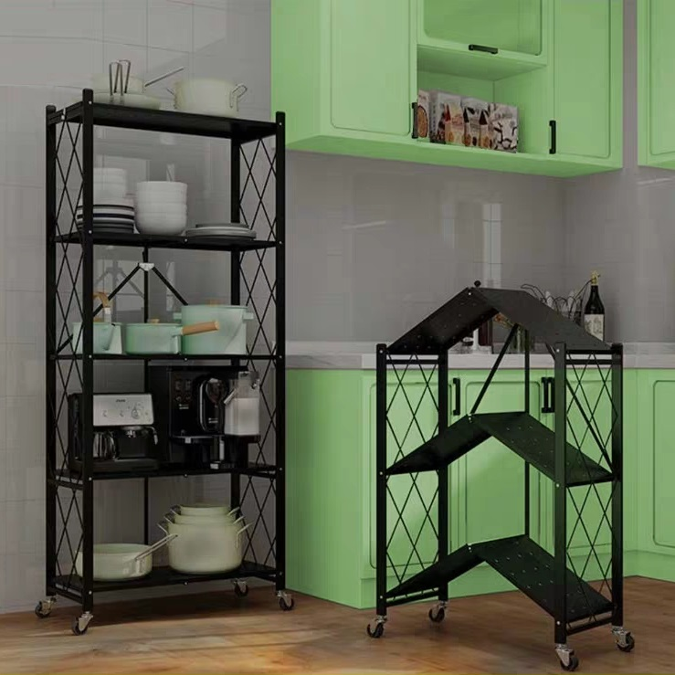 Multifunctional Collapsible and Movable Storage <strong>Holders</strong> Foldable Rack