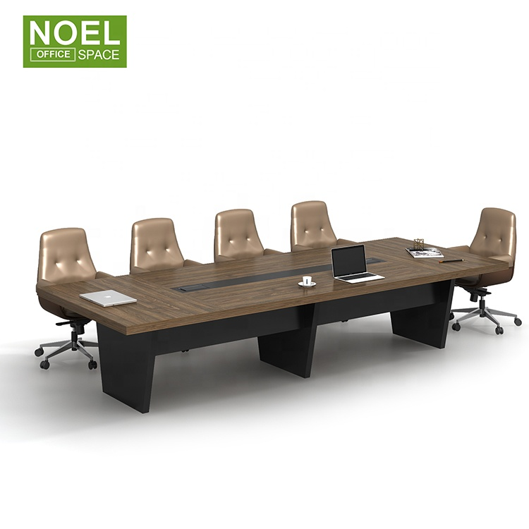 Modern office conference table meeting MFC table and chairs 10 seater