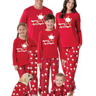 Pajamas Pajamas European American Parent Child Kids Family Christmas Pajamas Decoration 2 Pieces Set