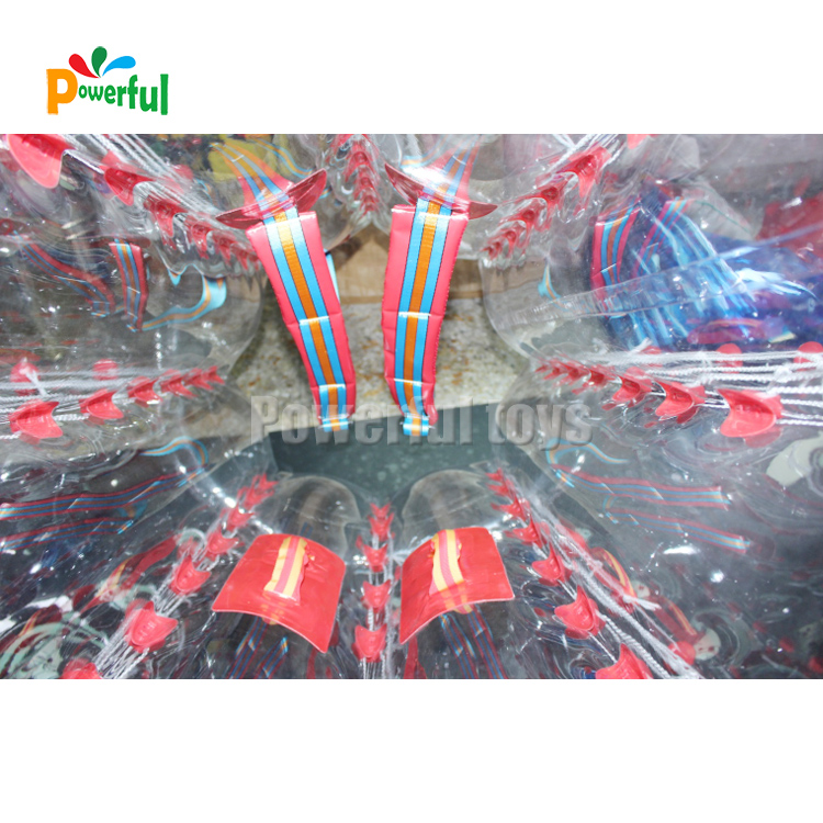 Clear pvc inflatable walk in plastic bubble ball bumper soccer
