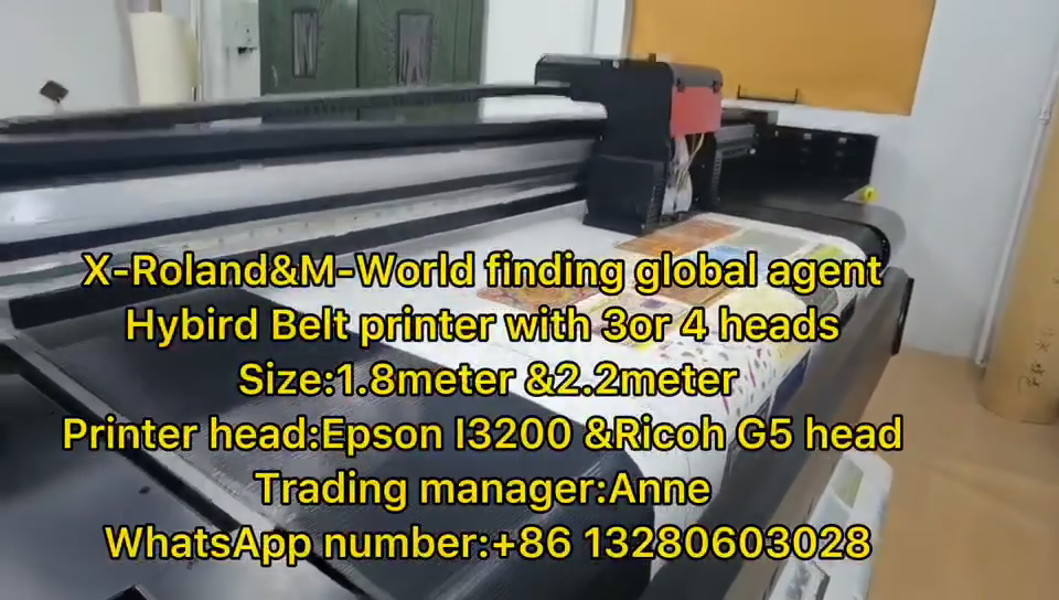 X-Roland 2.2m  Hybrid belt  uv printer  (with3 pieces I3200 heads)