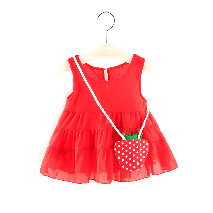 Amazon 100% cotton cut bow lemon patter sleeveless butterfly knot toddler birthday dress infant girls party dresses with big bow