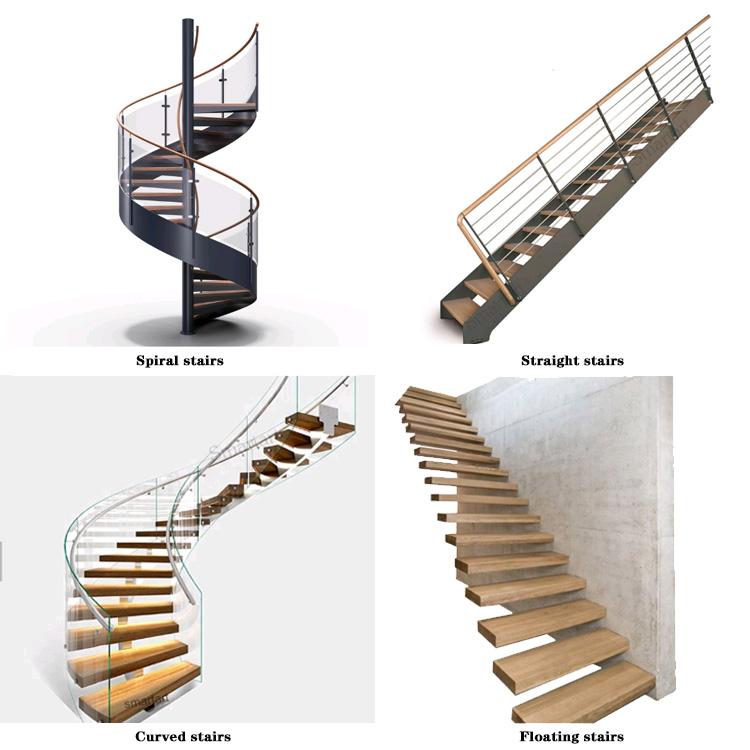 CLEAVIEW EINRICHTUNGS modernen hohe qualität l form vorgefertigte stahl glas treppen