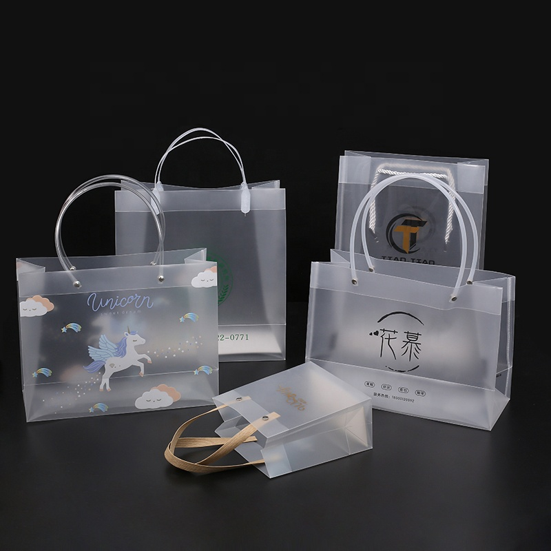 Recyclable PP Plastic Transparent Shopping Bag with Custom Logo Printing