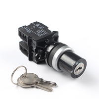 LA42 series high quality 2 or three position self-locking key lock rotary selector switch