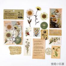 Ретро коллекция времени серии ломо карты цветы растения масло бумага крафт-карты журнал пуля Скрапбукинг материал бумага(Китай)