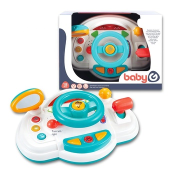 For Kids Multifunction Driving Game Lights Music Electronic Musical Baby Steering Wheel Toys
