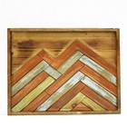 Retro Wood Sign Plaque Mountain Wood Carving Wall Art For Living Room