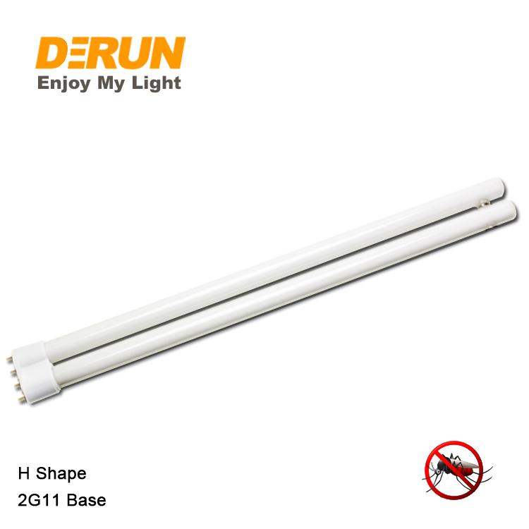 18w 36W longa tira Quatro-pin tipo H 2G11 led UV assassino do mosquito inseto atraído luz fluorescente tubo da lâmpada, FLT-BL