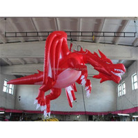 Commercial Christmas Decorations Inflatable Dragon with Wings