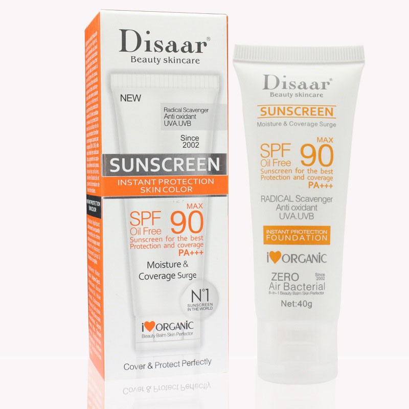 Disaar Moisturizing UV Protection Oil Free Organic PA+++ SPF 90 <strong>Sunscreen</strong>