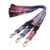 Single label cheap gift free sample custom sublimation logo polyester neck lanyard