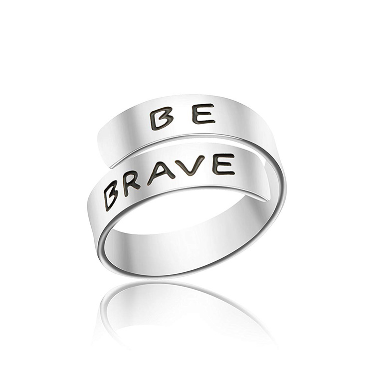 Fashion 925 Sterling Silver I am Enough Rings Adjustable