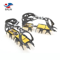 Best ice climbing hiking silicone ice crampons for shoes boots