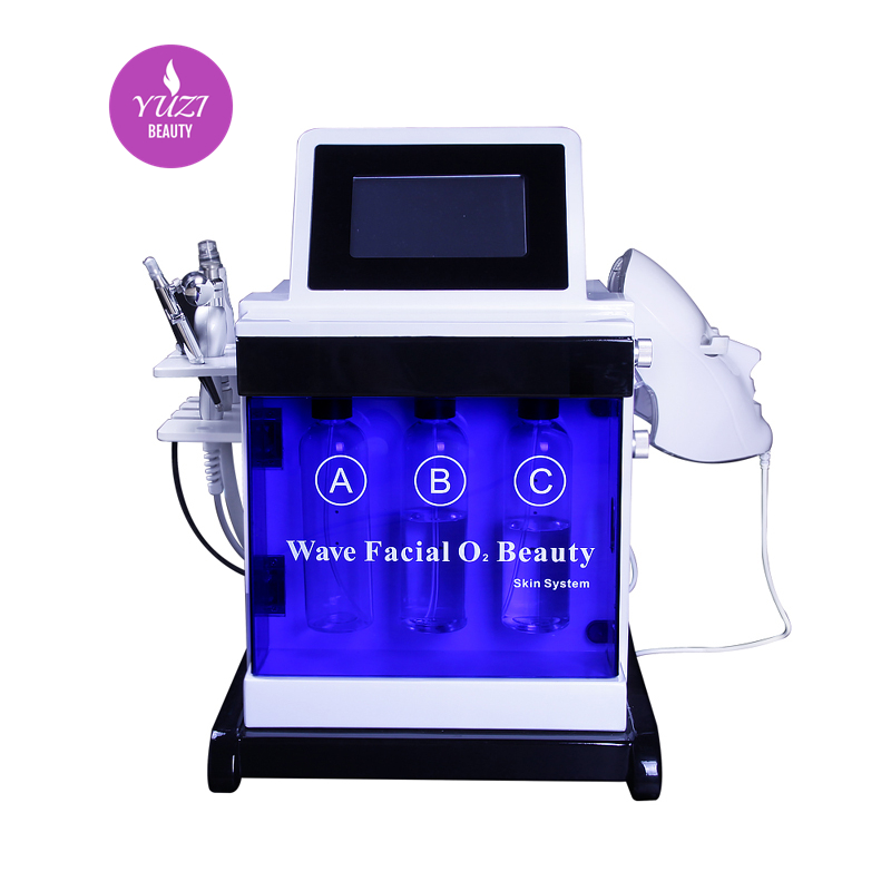 7 In 1 Photo Dynamic Therapy/oxyegn Spray/hydra Dermabrasion Facial Beauty Device