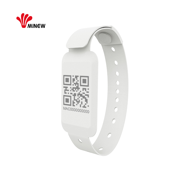 Cut-off alarm ble 5.0 beacon wristband for people tracking solution