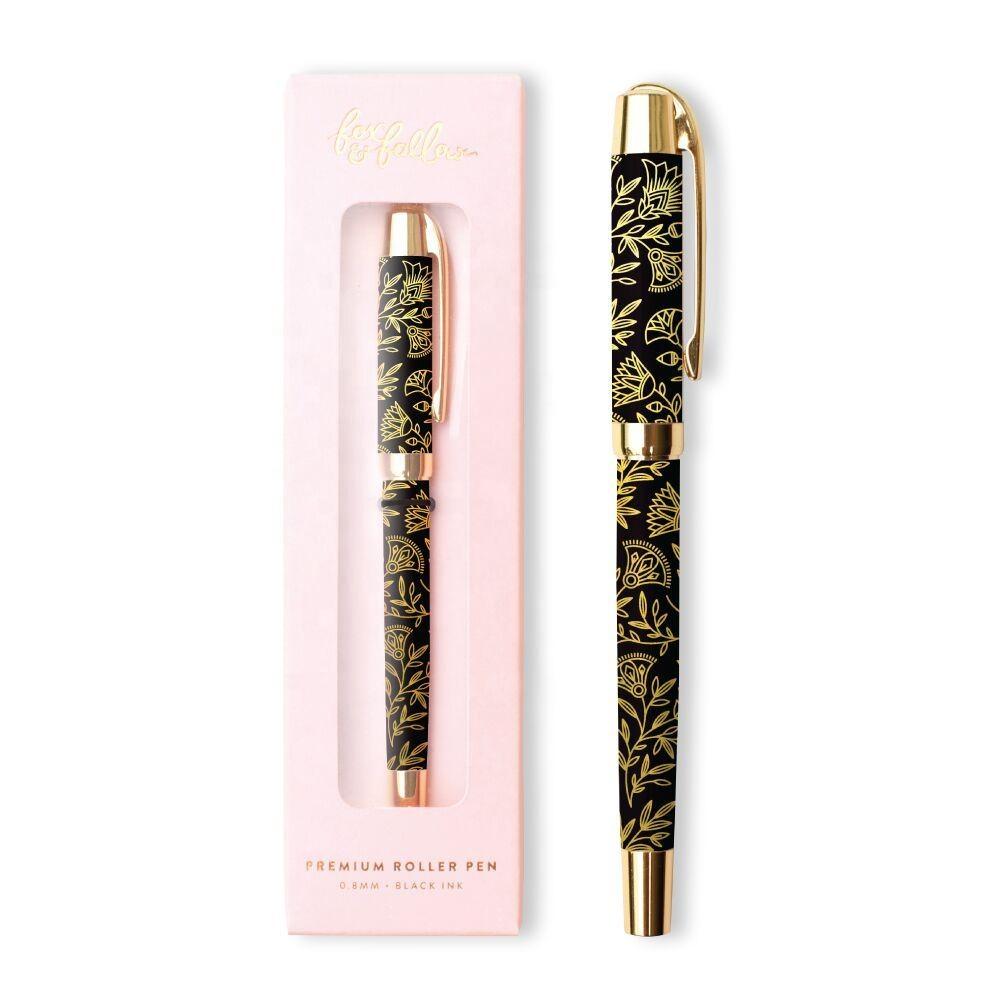 יפה מותאם אישית פרח עיצוב עט מתכת כדור עט העברת חום פרחוני הדפסת עט לקידום מכירות מתנה