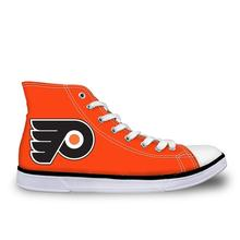 Thikin Philadelphia Flyers Custom Tailor High Top Canvas Sneaker Moda Unissex Sapatas de Lona Ocasionais Das Sapatilhas