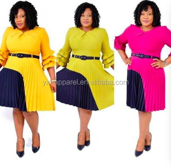 Ladies designer african women formal office dresses