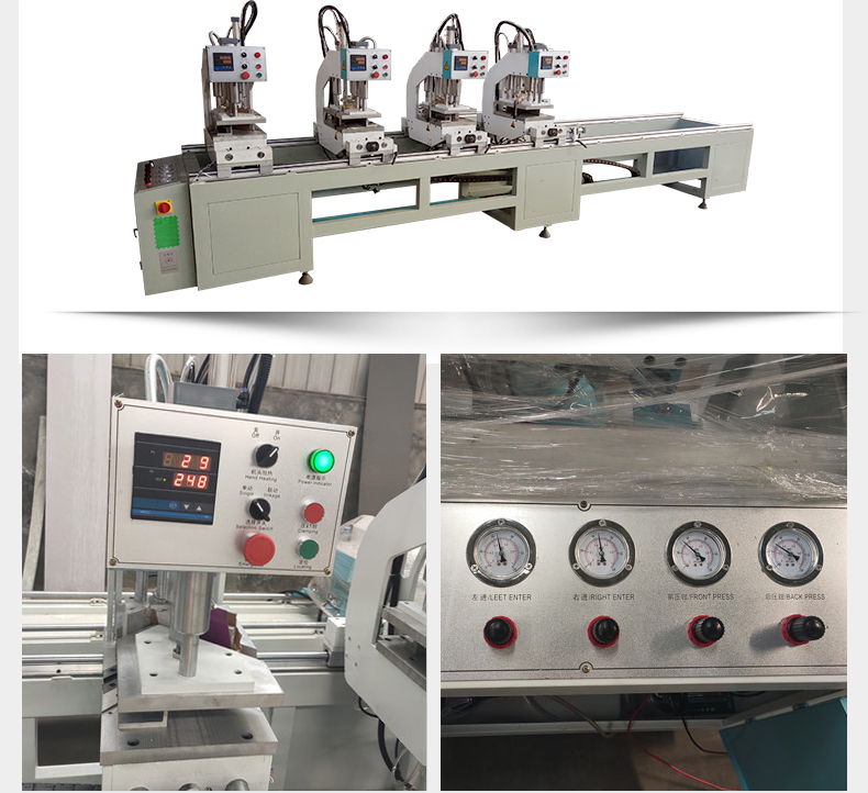 SHZ4-100X4500 4 Head Seamless Welding Machine For PVC Win-door