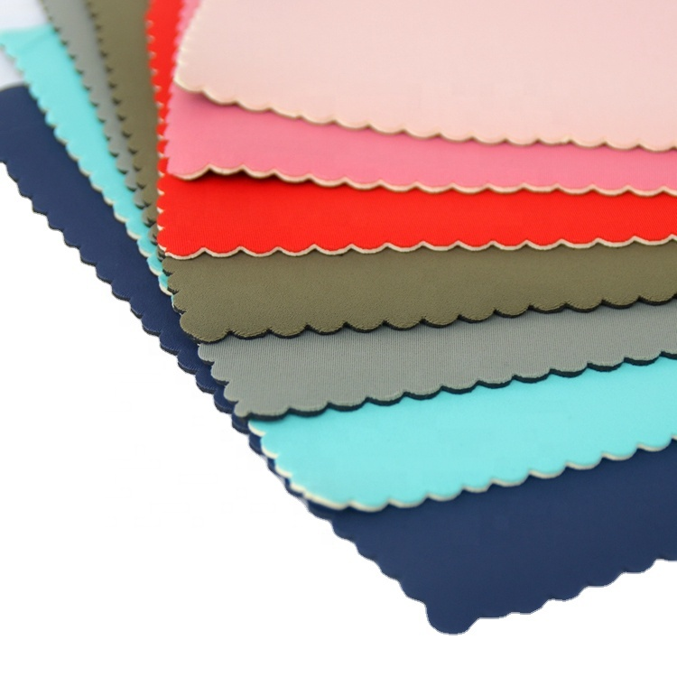 Jianbo wholesale 1.5mm neoprene fabric SBR laminated colorful polyester fabric for making neoprene facemask