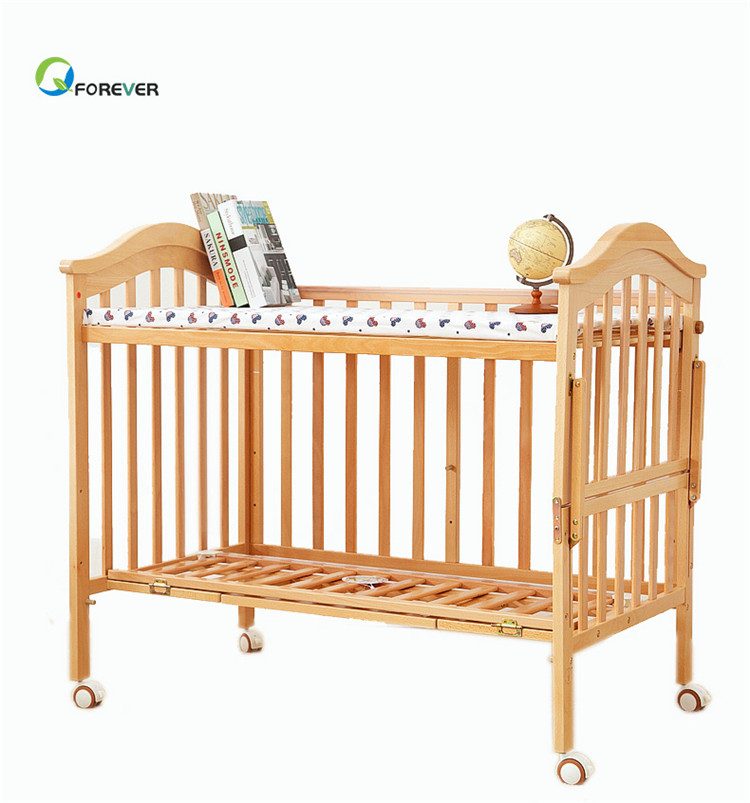 Solid wood Multifunctional game bed Children's bed stitching newborn bb bed