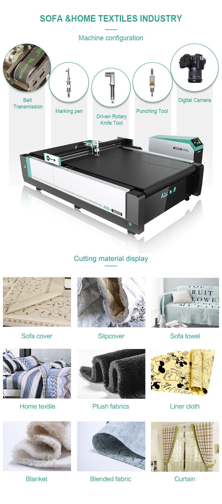 AOL automatic fabric cutting machine price cloth cutter cloth cutting machine automatic plotter