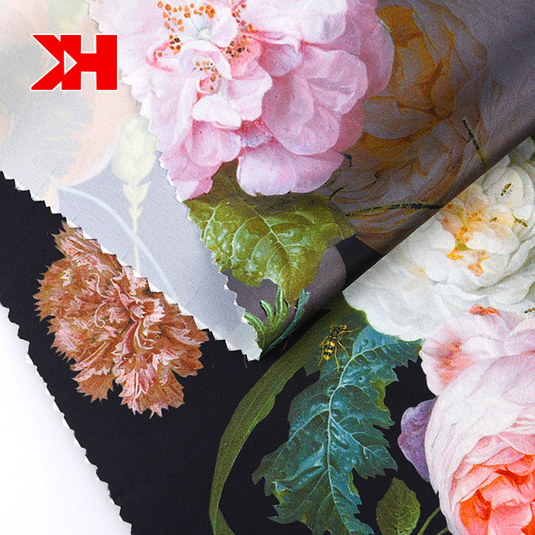 Printed Silk Satin Fabric 100% Polyester Satin Shaoxing Manufacture