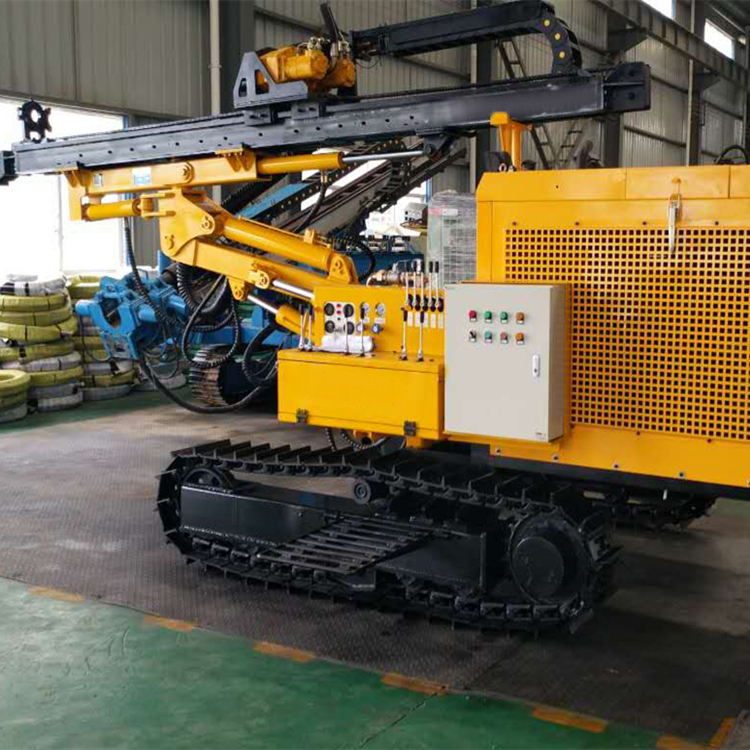 Integrated pneumatic down the hole drill rig