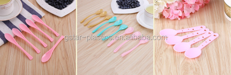 12cm Length PS Plastic Ice Cream Scoops Disposable Heavy Duty Ice Cream Spoon Plastic Colored