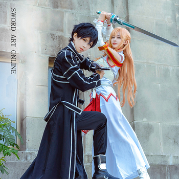 Wholesale Custom Japan Anime Sword Art Online SAO Kirito And Asuna Cosplay Clothing Costume Set