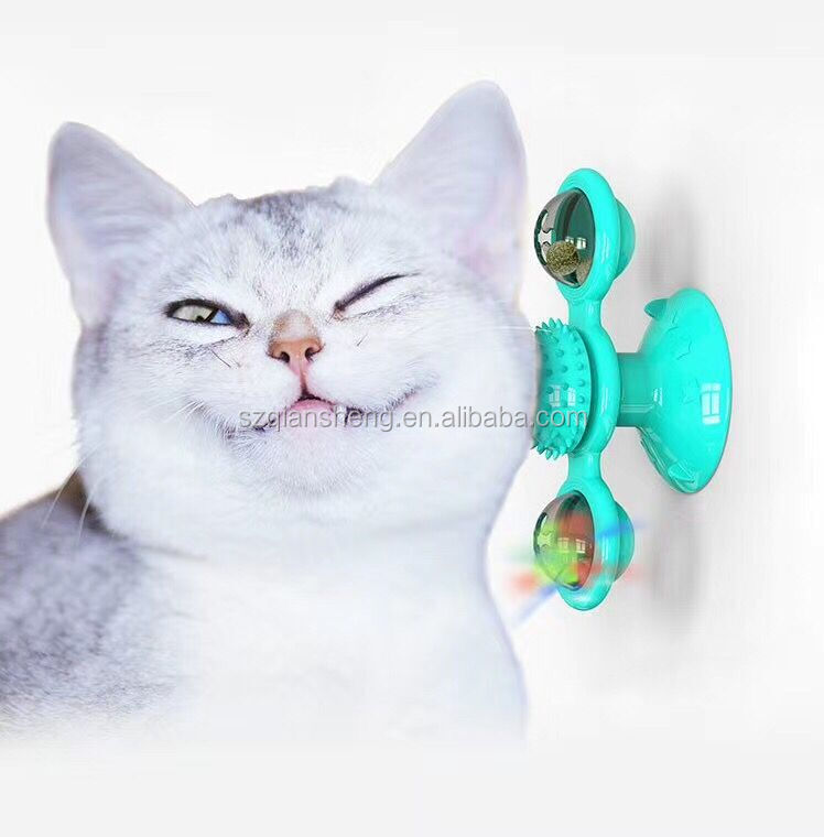 Wholesale Eco-Friendly Funny Cat Toys pet toys cat windmill rotating Turntable Toys