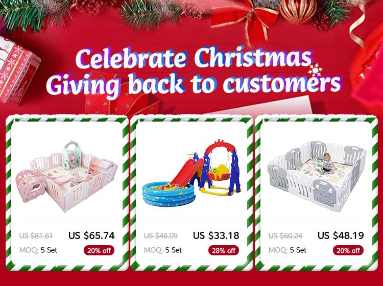 Daycare kids indoor plastic baby game box voor kinderen