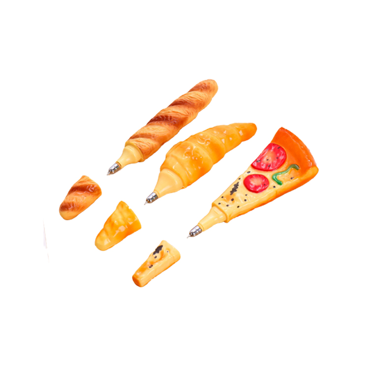 Hot Sale Promotional Pizza Ball <strong>Pen</strong> For Kids,Creative Novel Simulation Bread Food Shape BallPoint <strong>Pens</strong>