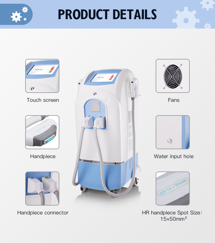 IPL Handle Different Spot Sizes OPTion Cost Price Handles For Permanent Hair Removal Skin Rejuvenation