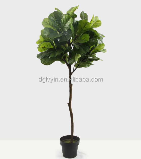 150cm height Artificial fiddle leaves tree plants for garden ornaments