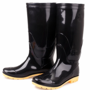 Cheap Waterproof Gumboots Shiny Black