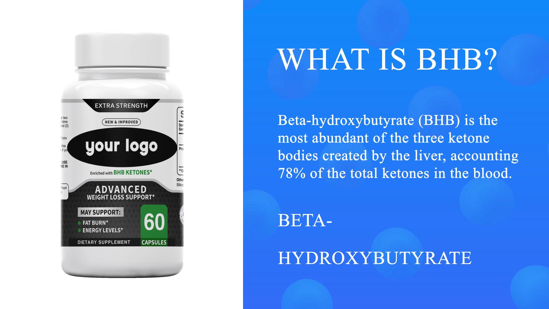Private Label Vet Brander Gewichtsverlies Pillen Keto Bhb Supplement Capsules