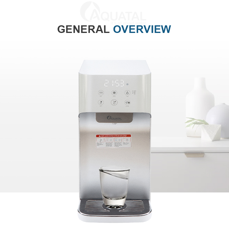puricom water purifier filter cooler , ultrafiltration hot and cold alkaline water purifier mini