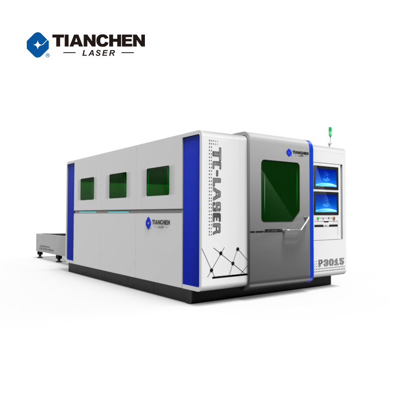 large area high power fiber laser cutting machine with Protect Cover and Exchange Table from 1kw to 13kw