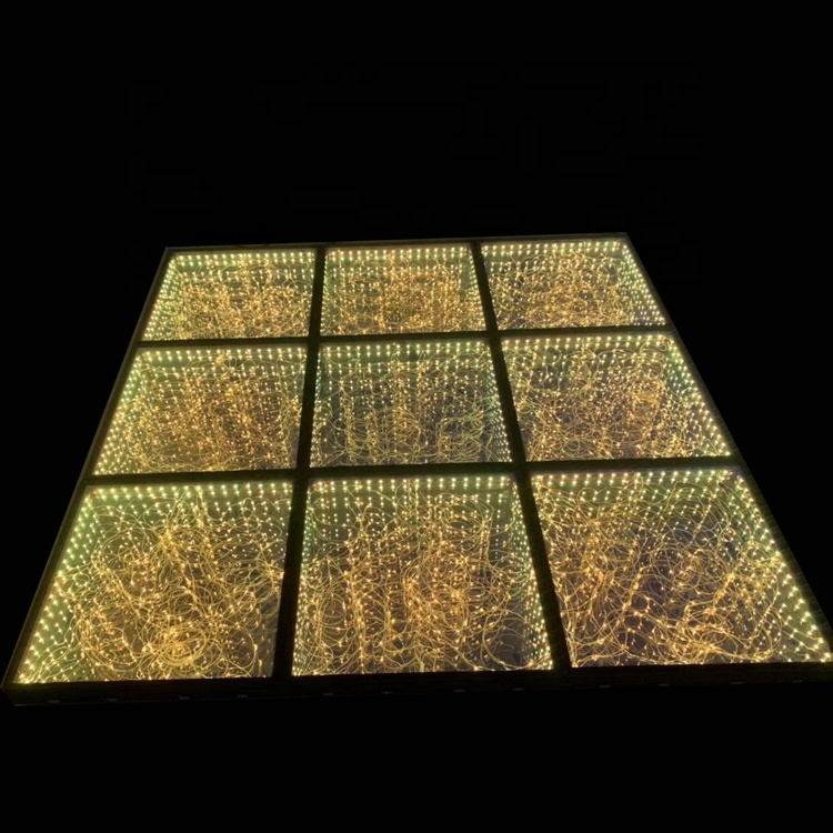 12*12  rgbw 3D infini mirror led stage dance floor rental