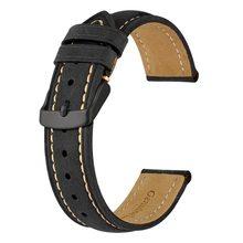 Ремешок для часов Anbeer 18 мм 20 мм 22 мм, Ретро ремешок из натуральной кожи, винтажный сменный браслет для мужчин и женщин, полированная пряжка(Китай)