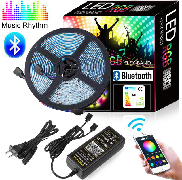 5M DC12V 5050 RGBW WaterProof IP65 Bluetooth wireless control Color Changing 1 Reel Smart Led Strip Light