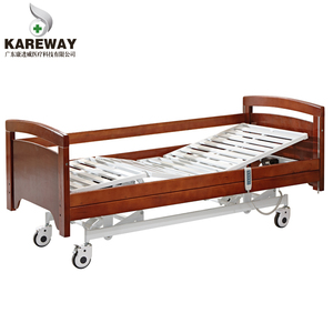 china supplier wooden electric medical care bed for bedridden patients