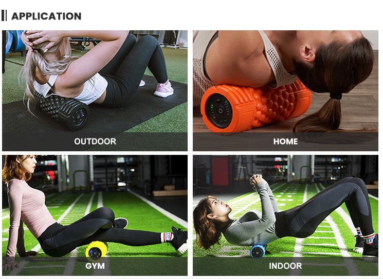 Tropical 5 speed vibrating foam roller for deep massage
