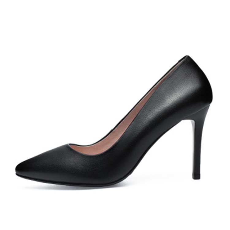 pointed high quality genuine leather women sexy shoes high <strong>heels</strong>