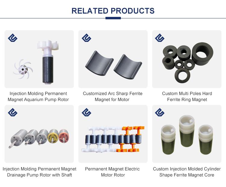 Y25/Y30 מותאם אישית פלסטיק הזרקת צילינדר צורת פרייט מגנט Core עבור מיקרו מנוע