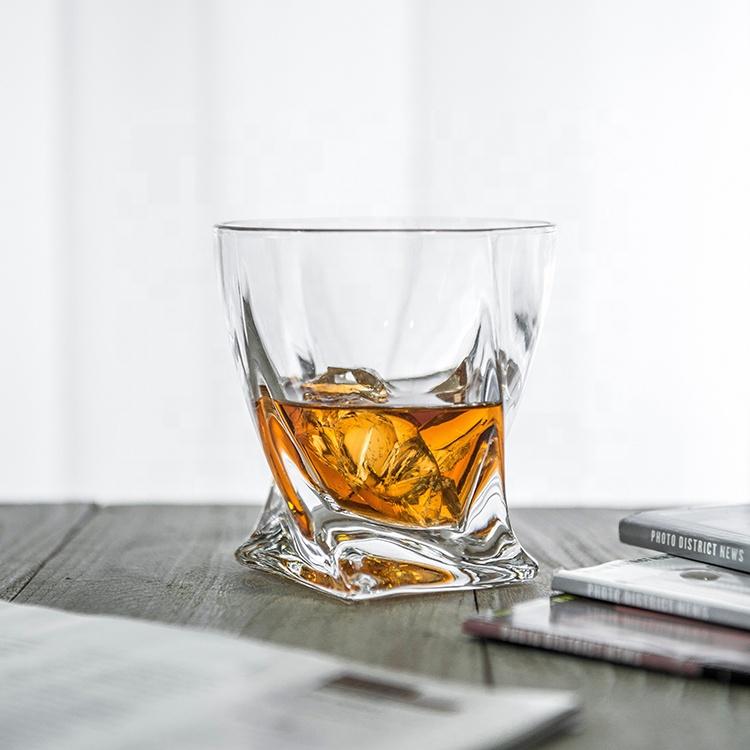 300 ml नेतृत्व मुक्त क्रिस्टल मुड़ व्हिस्की ग्लास स्कॉच ग्लास